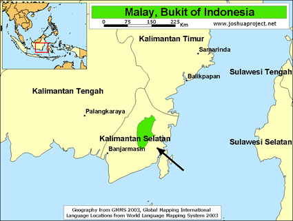 Map of Meratus, Bukit in Indonesia