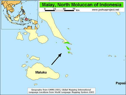 Malay, North Moluccan in Indonesia