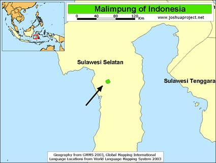Map of Malimpung in Indonesia