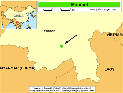 Map of Manmet in China