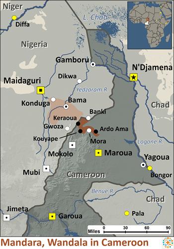 Mandara wandala in cameroon joshua project mandara wandala in cameroon map ccuart Image collections