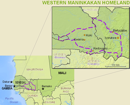 Map of Maninka, Western in Mali
