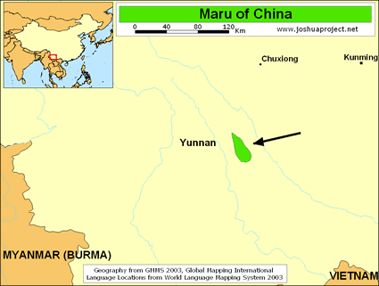 Map of Maru in China