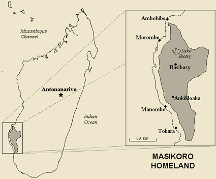 Map of Masikoro in Madagascar