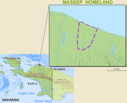Map of Massep in Indonesia