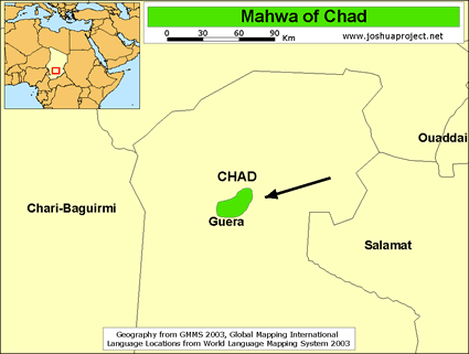 Map of Mawa in Chad