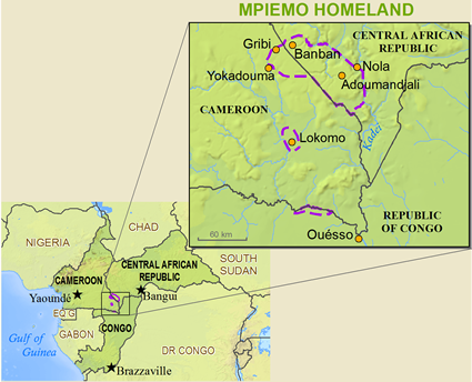 Map of Mbimu in Central African Republic