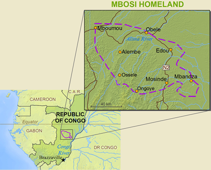 Map of Mbosi in Congo, Republic of the