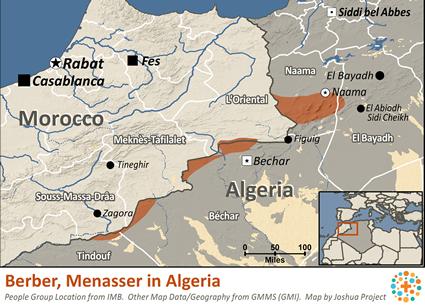 Berber, Menasser in Algeria