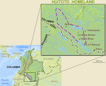 Meneca Huitoto in Colombia