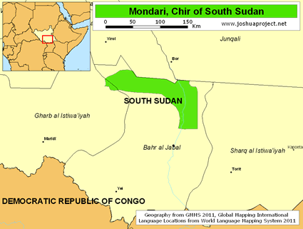 Mondari, Chir in South Sudan