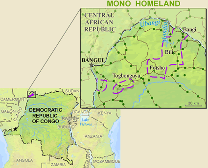 Mono, Amono in Congo, Democratic Republic of
