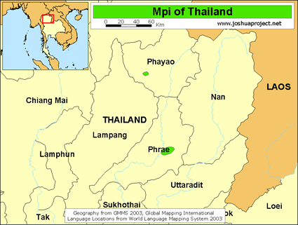 Map of Mpi in Thailand