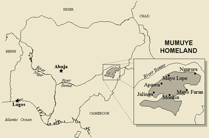 Map of Mumuye in Cameroon