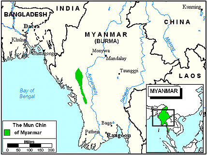 Chin, Mun, Chinbok in Myanmar (Burma)