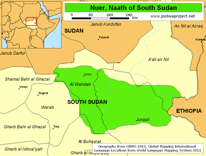 Nuer, Naath in South Sudan