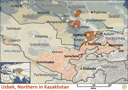 Uzbek, Northern in Kazakhstan