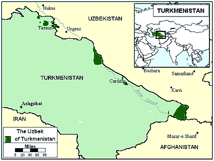 Uzbek, Northern in Turkmenistan