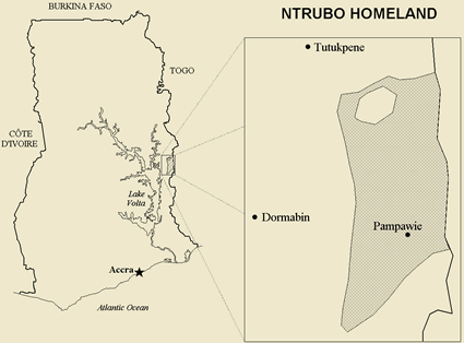 Map of Ntrubo in Ghana