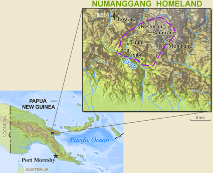 Map of Numanggang in Papua New Guinea
