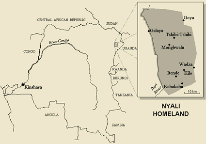 Nyali, Huku in Congo, Democratic Republic of