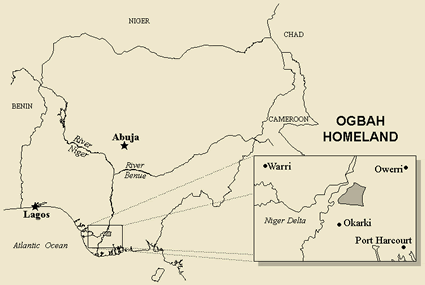 Map of Ogba in Nigeria