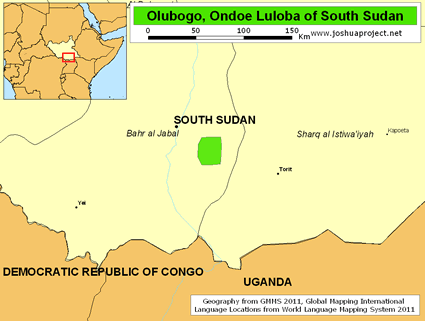 Olubogo, Ondoe Luloba in South Sudan