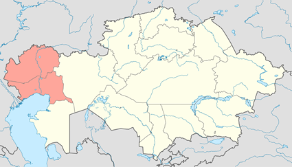 Map of Romani, Sinte in Kazakhstan