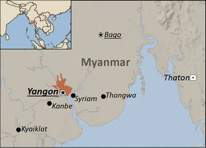 Map of Punjabi in Myanmar (Burma)