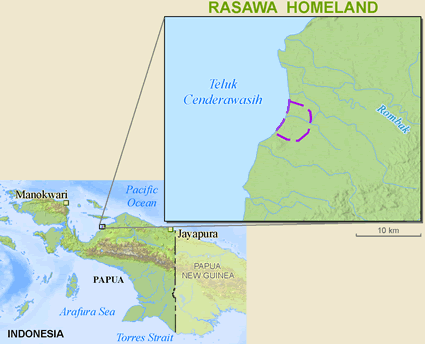 Map of Rasawa in Indonesia