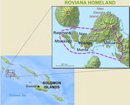 Roviana, Robiana in Solomon Islands