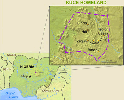 Map of Rukuba, Inchazi in Nigeria