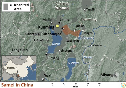 Map of Samei in China