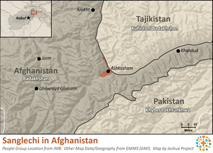 Map of Sanglechi in Afghanistan