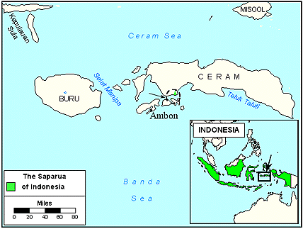 Saparua in Indonesia