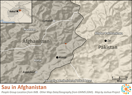 Map of Sau in Afghanistan