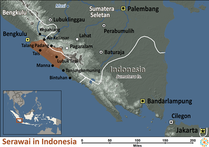 Map of Serawai in Indonesia