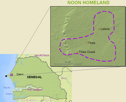 Map of Serer-Non in Senegal