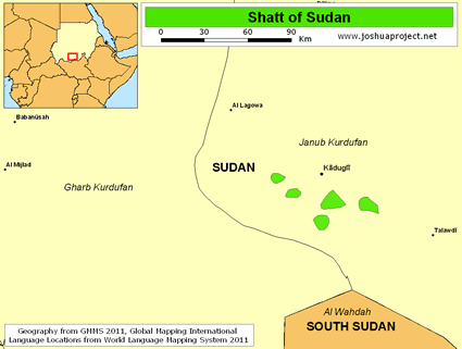 Map of Shatt in Sudan