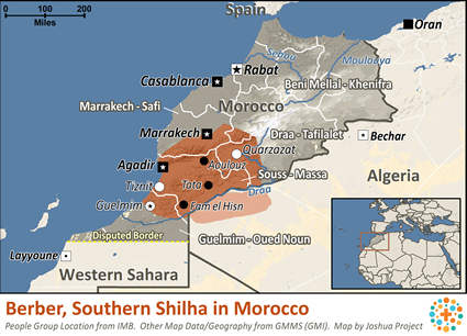 Berber, Southern Shilha in Morocco