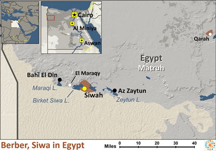 Berber Siwa In Egypt Joshua Project - Map of egypt oasis