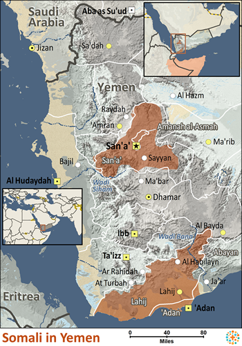 Somali In Yemen Joshua Project - Yemen map png