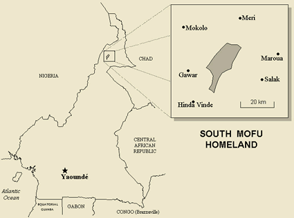 Mofu, South in Cameroon