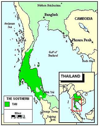 Thai, Southern in Thailand