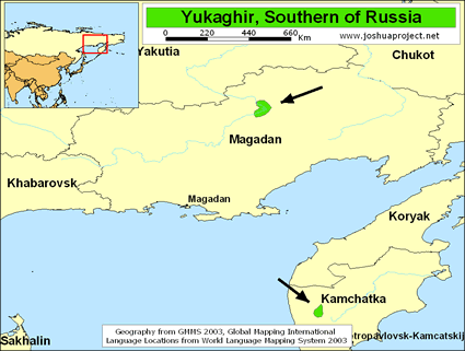 Map of Chuvan in Russia