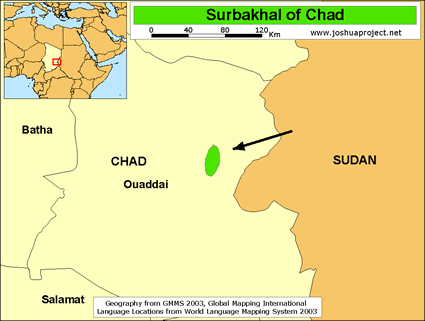 Map of Surbakhal in Chad