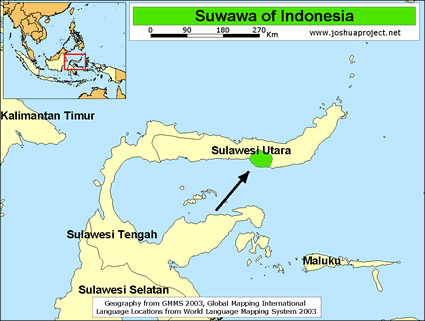 Suwawa in Indonesia