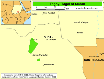 Map of Tagoy in Sudan