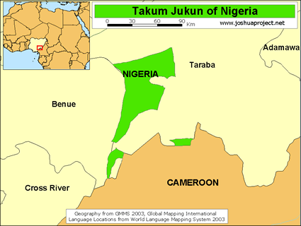 Map of Njikum in Nigeria