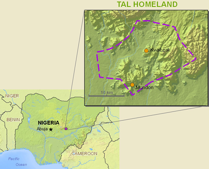 Map of Tal in Nigeria